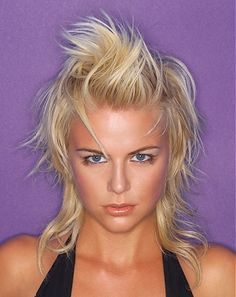 A medium blonde straight coloured spikey Rock-Chick hairstyle by seanhanna