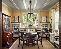 Park Hill House - traditional - Dining Room - New York - Francis Dzikowski Photography Inc.
