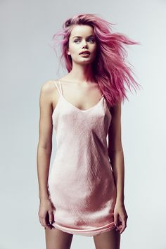 ALEX: CAN WE MAKE HER HAIR PINK?! with something not permeant? like chalk or something?