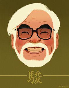 The legendary Hayao Miyazaki by Jeff Delgado