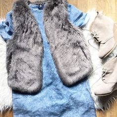 A little fur on fur action. #poshstyle