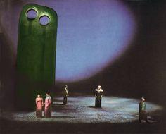 """"""" Tristan und Isolde """" 2.Akt 1962 Wieland Wagner Bühnenphoto"""