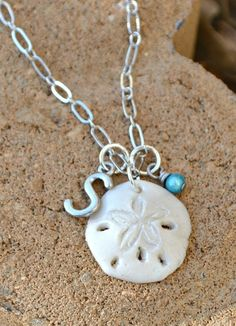 Sand Dollar Pendant made with Sculpey Clay! Perfect Mother's Day Gift idea -- tutorial on how to make it in post! #ThisisStyle #shop #cbias