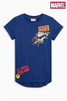 Blue Iron Man T-Shirt (3-16yrs)