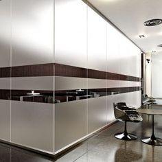 Kristal 5 partition single glass with PVC removable films  //   ---   //  Parete Kristal 5 vetro singolo con pellicole removibili in PVC