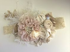 Baby Girl Headband Baby Headband Flower от AvryCoutureCreations