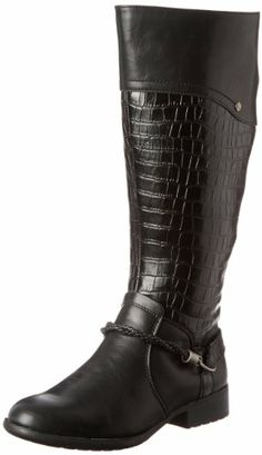 Possesso Women Round Toe Leather Over the Knee Boot