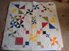 Pinwheel Party baby quilt by grantham.dee