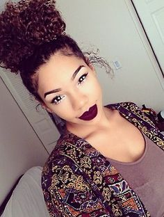 Had my hair like this today with my curls and undercut popping