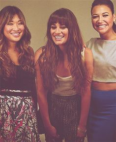 Jenna, Lea, & Naya from Glee