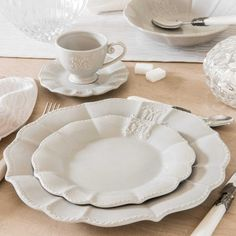 Assiette Plate En Faience Grise Maison Du Mondeassiettes