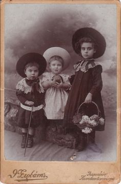 Three children in Constantinople, Ottoman Empire