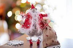 Santa Claus tricoté à Rat Rat/souris-Noël par Candyfleece sur Etsy