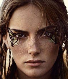 butterfly eyes elle sweden november 2014 model, stina olsson photo, eric josjo