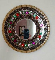 espelho com pedrinhas