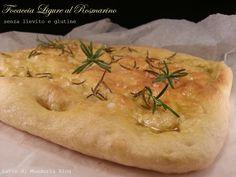 Focaccia ligure al rosmarino senza lievito e glutine-Latte di Mandorla Blog Ricette senza Lattosio - Copyright © All Rights Reserved