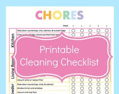 Printable Monthly Cleaning Schedule by GraceByFaith on Etsy