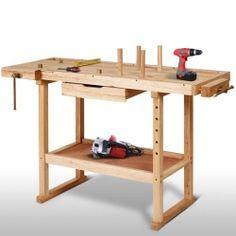 Puutyöpöytä, 129,95€ Massiivipuinen työpenkki- soveltuu erinomaisesti koti- ja amatöörikäyttöön monenlaisiin työstötöihin. Ilmainen toimitus! #puupöytä