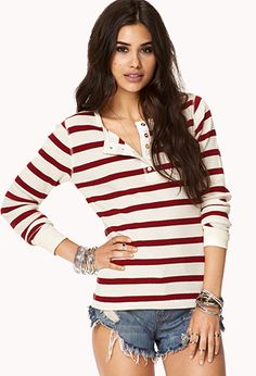 Striped Thermal Top | FOREVER 21 - 2060678829
