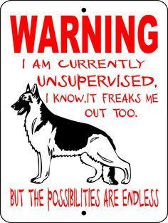 GERMAN SHEPHERD Dog Sign