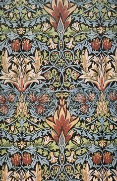 Snakeshead printed textile - William Morris
