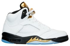 """Air Jordan 5 Retro """"Olympic""""Release Date: 08/20/16Color: White/Black-Metallic Gold CoinStyle"""