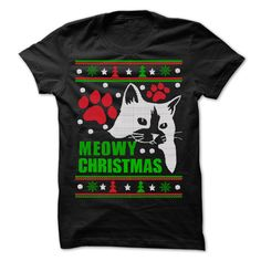 Meowy - Ugly Christmas Sweater - Meowy T-Shirts, Hoodies, Sweaters