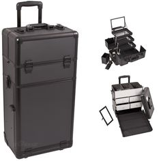 Black Dot Trolley Makeup Case, find it at TheCosmeticSpace.com!