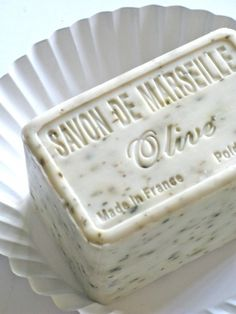 Savon de Marseilles soap in creamy white