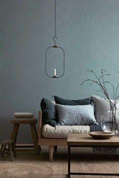77 Gorgeous Examples of Scandinavian Interior Design Grey-and-blue-Scandinavian-living-room - Modern Living Room Grey Interior Design, Scandinavian Interior Design, Interior Design Inspiration, Interior Styling, Design Ideas, Design Trends, Color Trends, Home Interior Colors, Interior Ideas