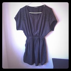 Charcoal express dress Only wore once great condition! Express Dresses Mini