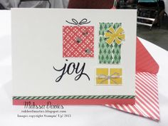 Stampin Up! Your Presents by Melissa Davies @rubberfunatics #rubberfunatics #stampinup