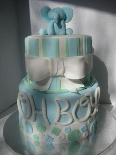Baby Boy Shower By thelilyofthewest on CakeCentral.com