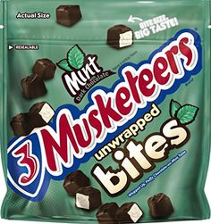 3 Musketeers Mint Bites Dark Chocolate Candy, 6 Ounce Pouch - http://bestchocolateshop.com/3-musketeers-mint-bites-dark-chocolate-candy-6-ounce-pouch/