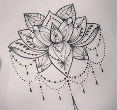 Cool Dotwork Lotus Tattoo Design 59 Tattoo Designs that Mean New Beginning Mandala Tattoo Design, Lotus Mandala Tattoo, Flower Tattoo Designs, Tattoo Flowers, Drawing Flowers, Lotus Mandala Design, Lotus Drawing, Geometric Mandala, Lotus Design
