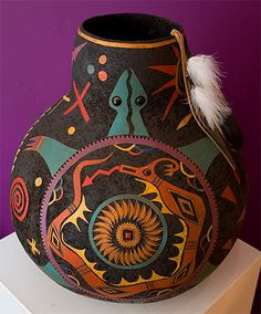 Mimbres Turtle Pot. I would design my own using my totems... could use this as a art project for 4-5 grades