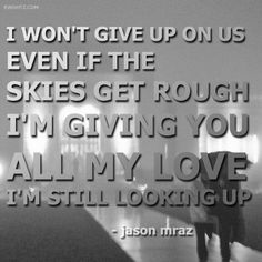 I won't give up...
