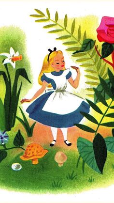 "Mary Blair ""Alice in Wonderland"" concept art lockscreens Peter Pan Cinderella"