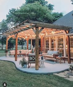 Design Patio, Pergola Design, Backyard Patio Designs, Backyard Landscaping, Patio Ideas, Landscaping Ideas, Backyard Ideas, Steep Backyard, Garden Ideas