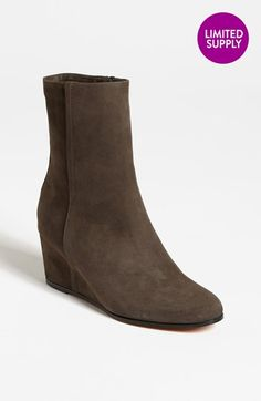 Love! I need wedge boots to walk up Seattle hills (my heels just don't cut it here), and I love grey and suede. Sold! Vince 'Michela' Boot available at #Nordstrom