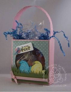 Peep Treat Box by PaperCrafty - Cards and Paper Crafts at Splitcoaststampers