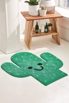 Urban Outfitters Cactus Bath Mat bohemian life boho home design decor nontraditional living elements of bohemia Home Design Decor, Diy Home Decor, House Design, Diy Casa, Cactus Decor, Cactus Cactus, Indoor Cactus, Green Cactus, Deco Originale