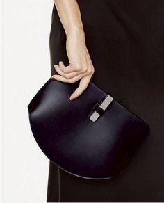 Hermes Black Baton De Craie Clutch Bag - Fall 2016