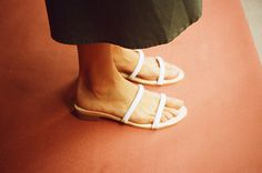 LUNE SANDAL, WHITE CALF- SOLD OUT