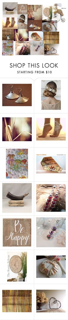 Be Happy by anna-recycle on Polyvore featuring Rustico, Barbed, Belle Maison, modern, rustic and vintage