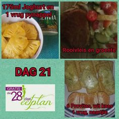 dag 21 Diet Meal Plans, Diet Recipes, Recipies, Diet Meals, Healthy Recipes, 28 Dae Dieet, Dieet Plan, Cantaloupe Smoothie, Yogurt