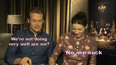 """""""Outlander"""" Stars Sam Heughan And Caitriona Balfe Reveal Just How Well They Know Each Other"""