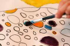 art magicians camp- cornstarch painting