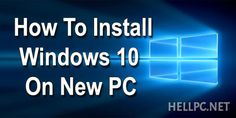How To Clean Install Windows 10 – New Installation  This tutorial shows how to install a clean copy of Windows 10. First of all, you have to download Windows 10 from Microsoft's website. Then create bootable installation media. You can create bootable installation media in two ways Read more: http://wp.me/p7k2UN-lK