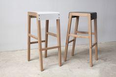 Willox Stools   Maker Studio Furniture WILLOX STOOLS American Oak + Powdercoated Steel seat